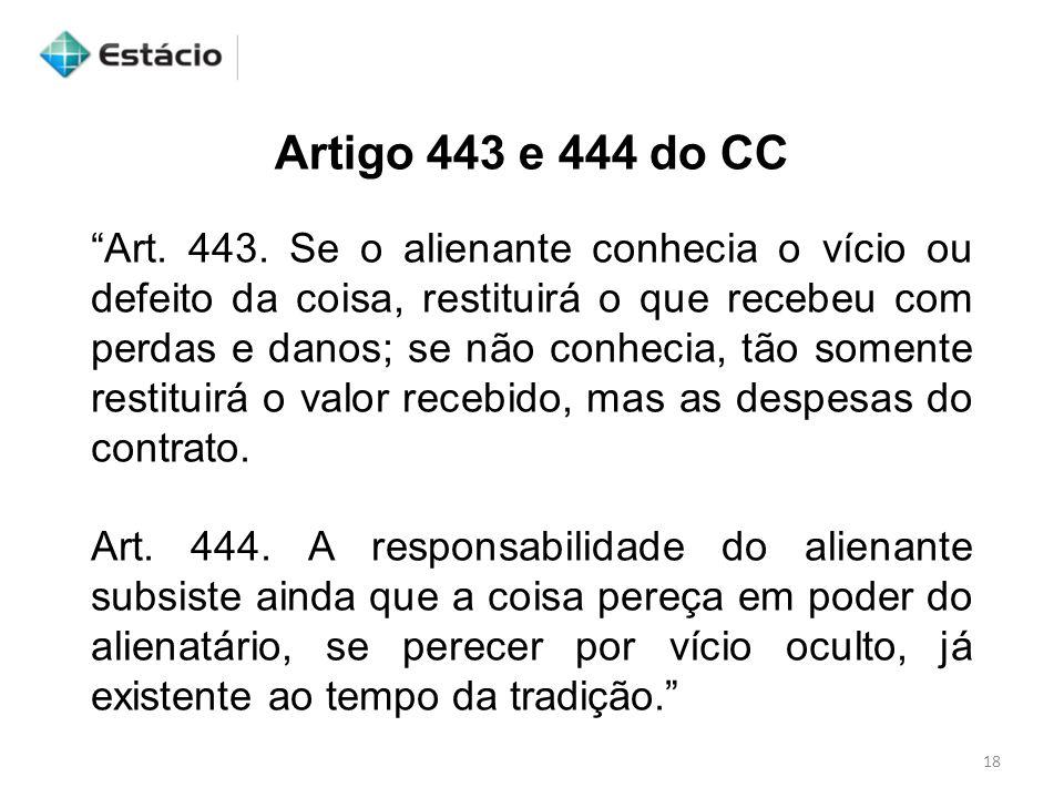 Artigo 443 e 444 do CC