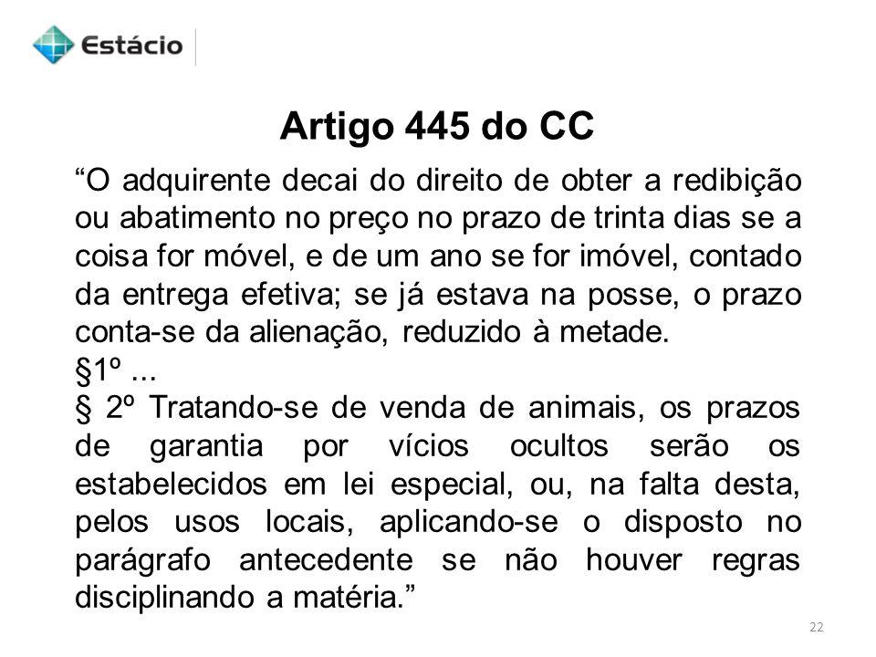 Artigo 445 do CC