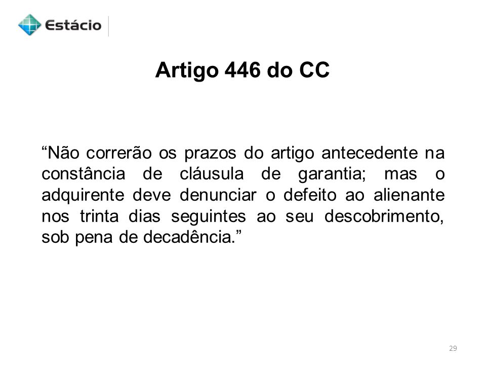 Artigo 446 do CC