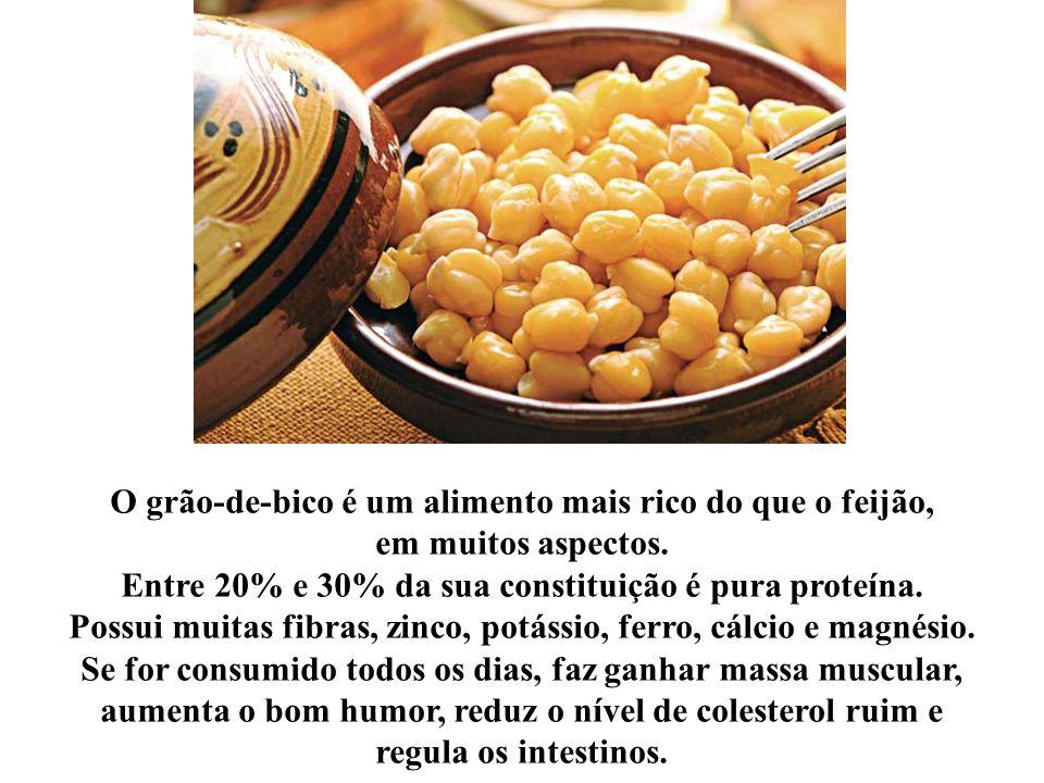 O grão-de-bico é um alimento mais rico do que o feijão, em muitos aspectos.