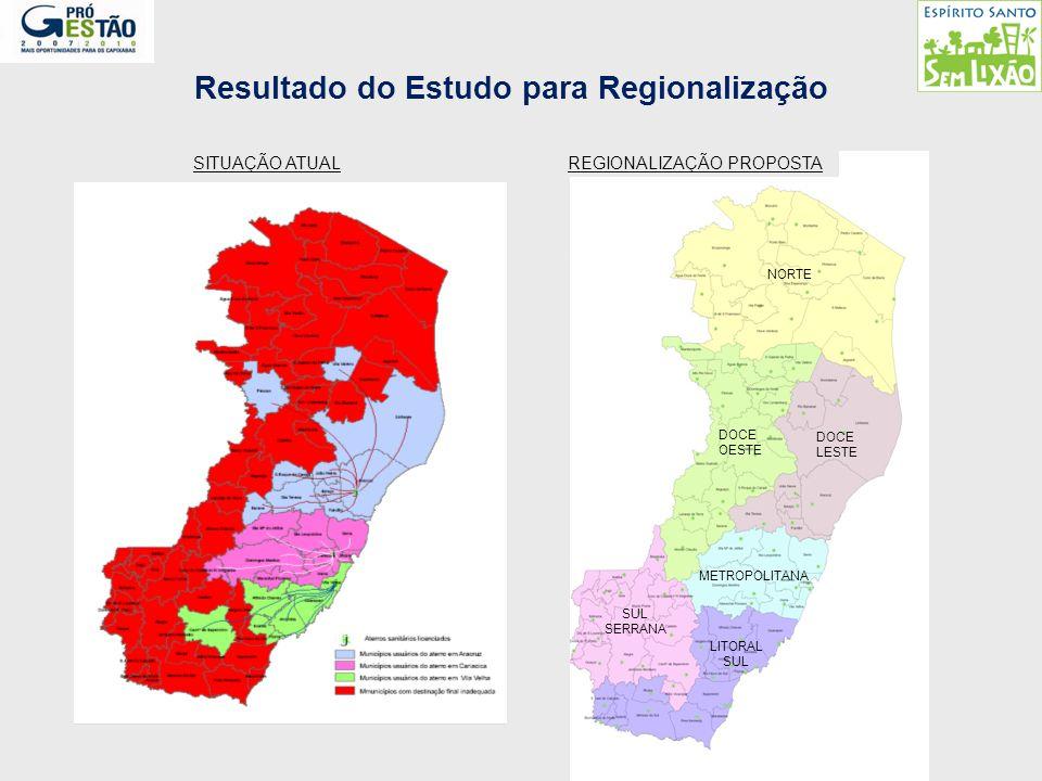 Resultado do Estudo para Regionalização