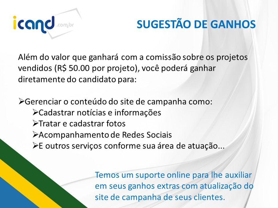 SUGESTÃO DE GANHOS