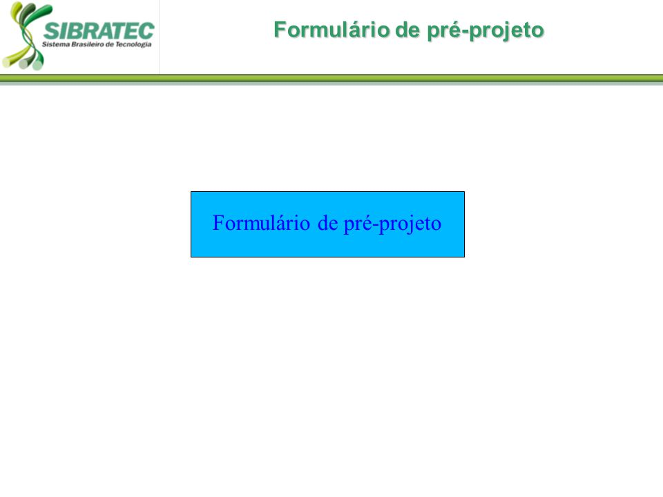 Formulário de pré-projeto