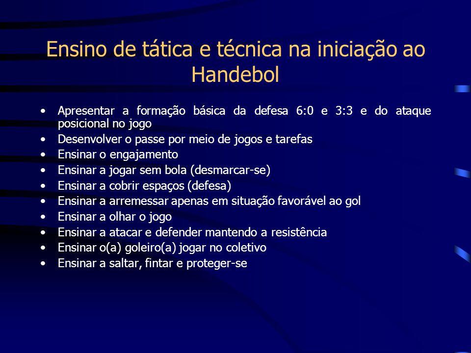 Ensino de tática e técnica na iniciação ao Handebol