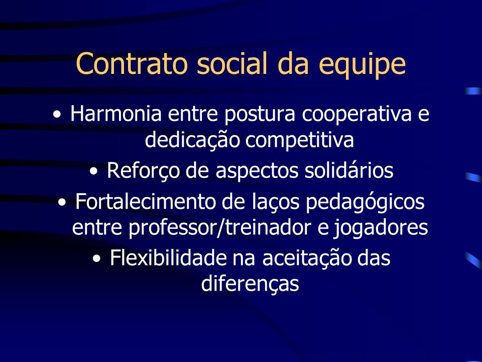 Contrato social da equipe