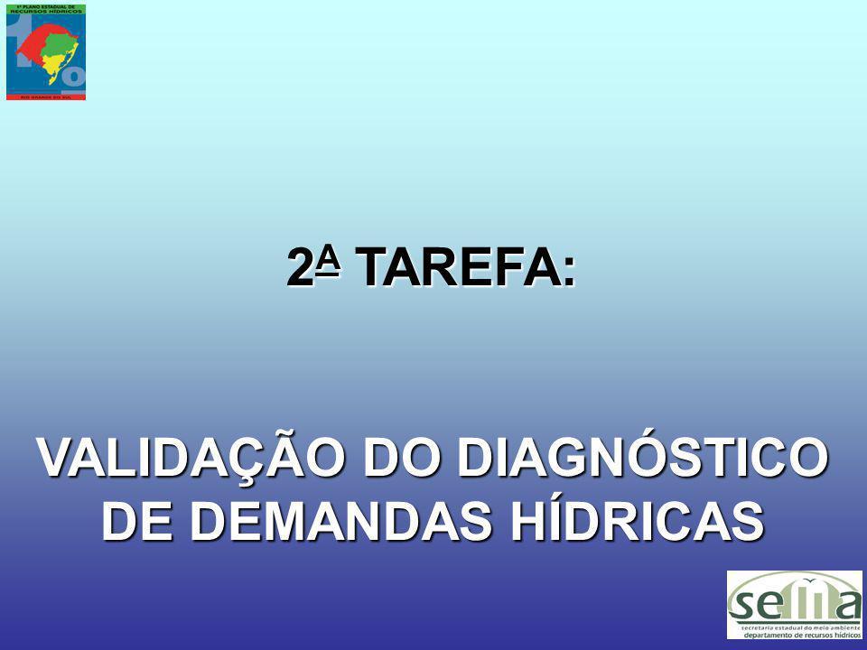 VALIDAÇÃO DO DIAGNÓSTICO DE DEMANDAS HÍDRICAS