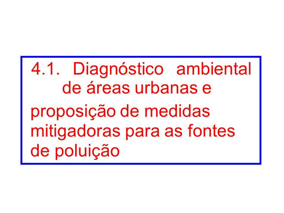 4.1. Diagnóstico ambiental de áreas urbanas e