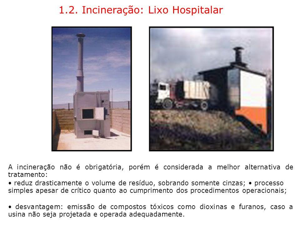 1.2. Incineração: Lixo Hospitalar