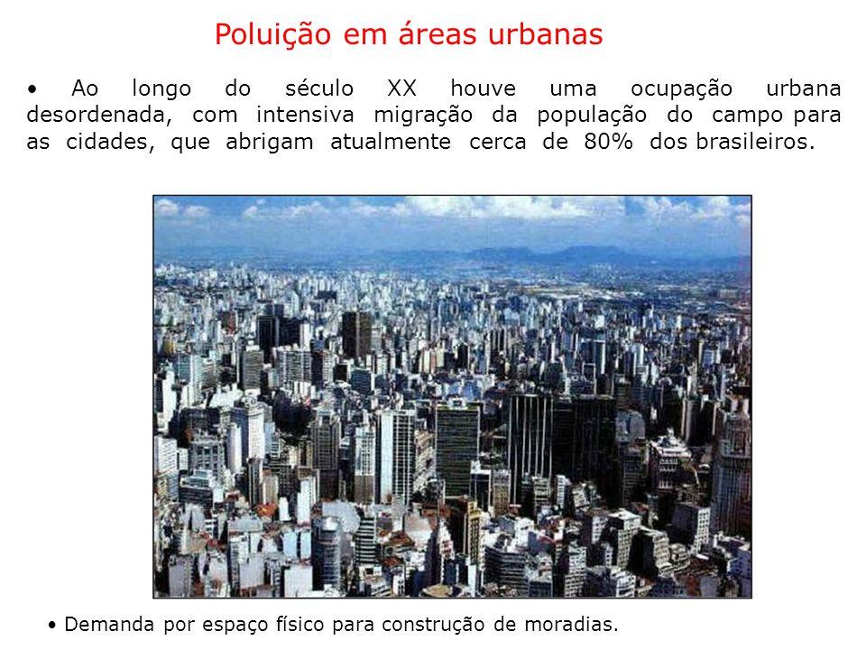 Poluição em áreas urbanas
