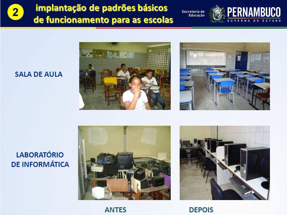 2 implantação de padrões básicos de funcionamento para as escolas