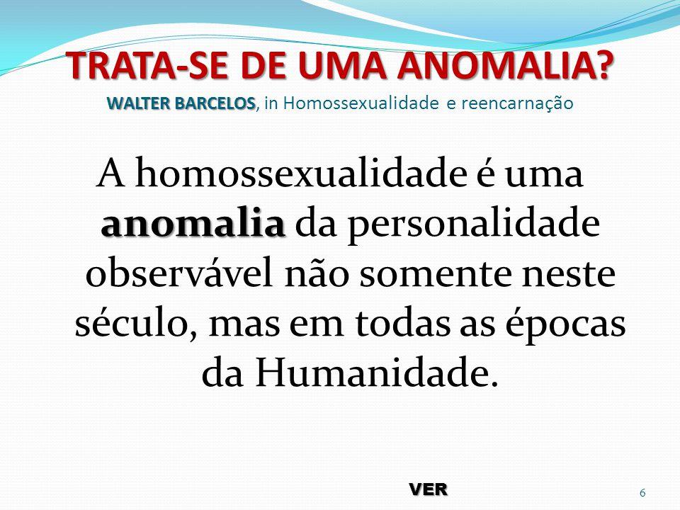 TRATA-SE DE UMA ANOMALIA