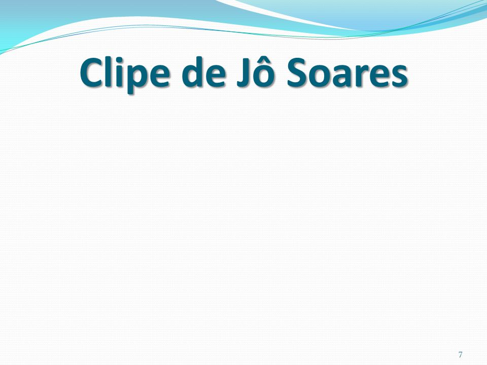 Clipe de Jô Soares