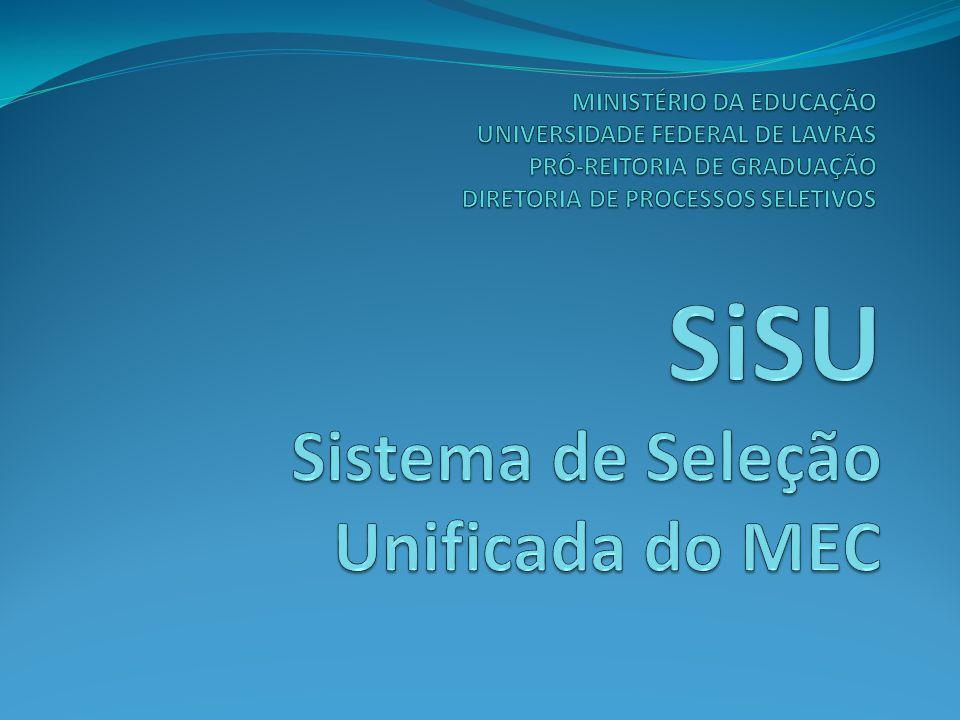 SiSU Sistema de Seleção Unificada do MEC