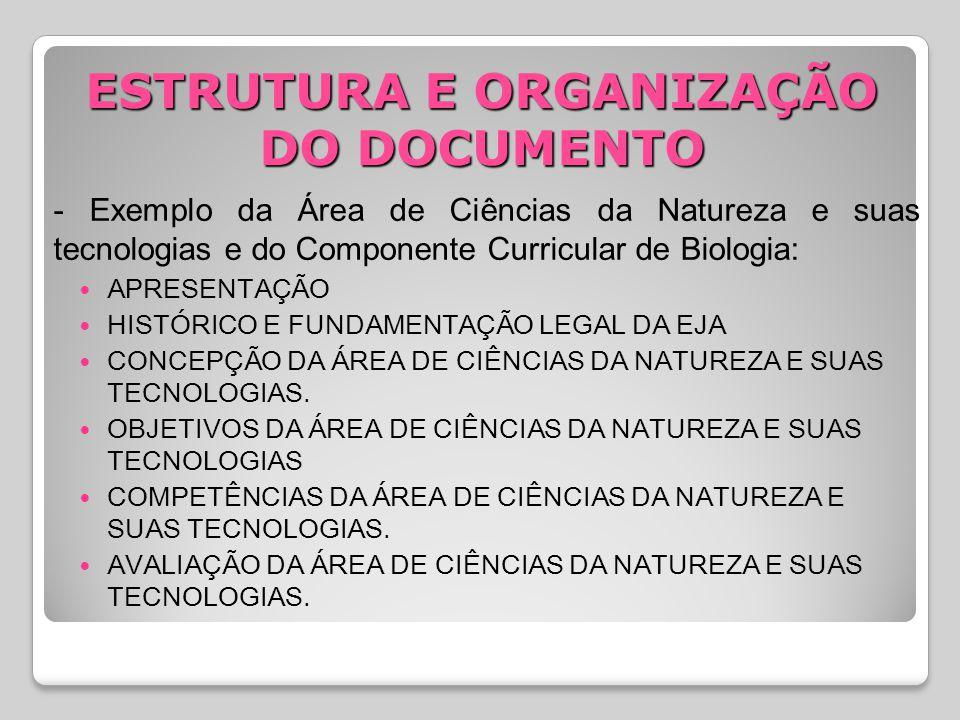 ESTRUTURA E ORGANIZAÇÃO DO DOCUMENTO