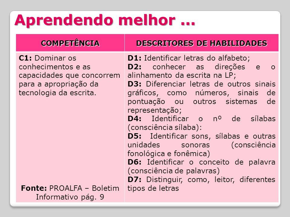 DESCRITORES DE HABILIDADES