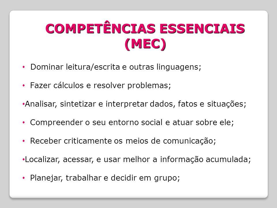 COMPETÊNCIAS ESSENCIAIS (MEC)