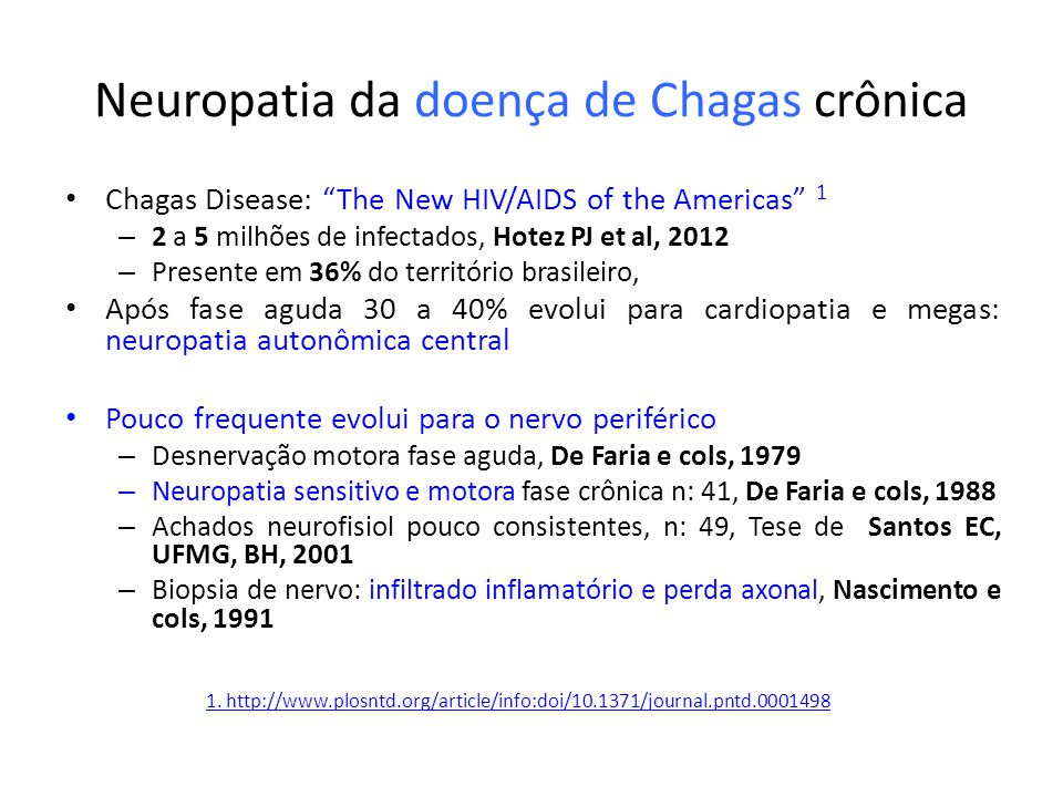 Neuropatia da doença de Chagas crônica