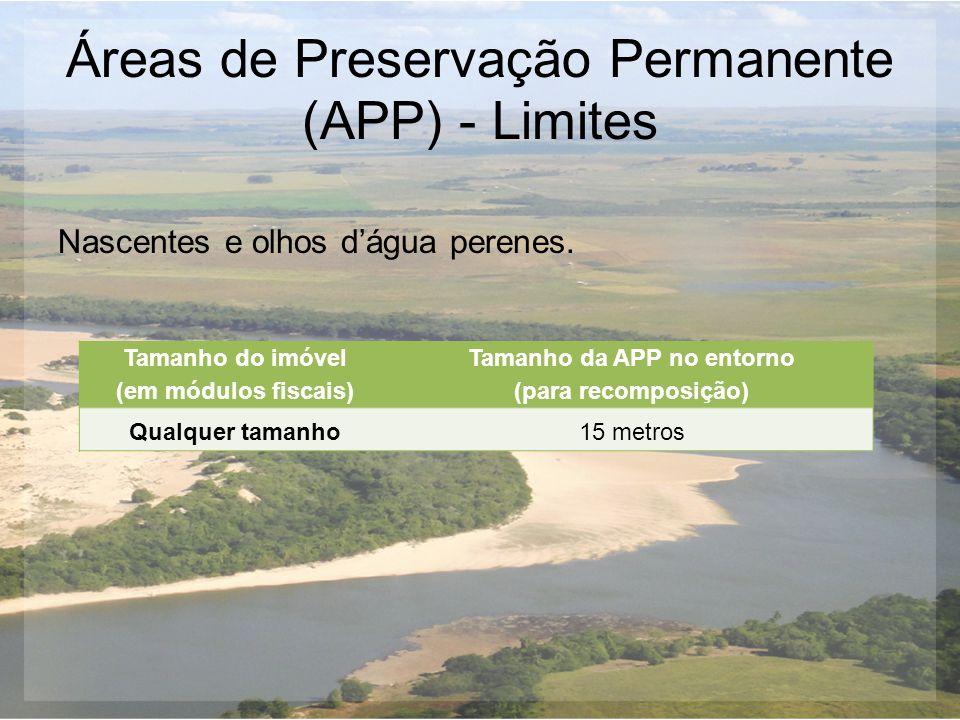 Áreas de Preservação Permanente (APP) - Limites