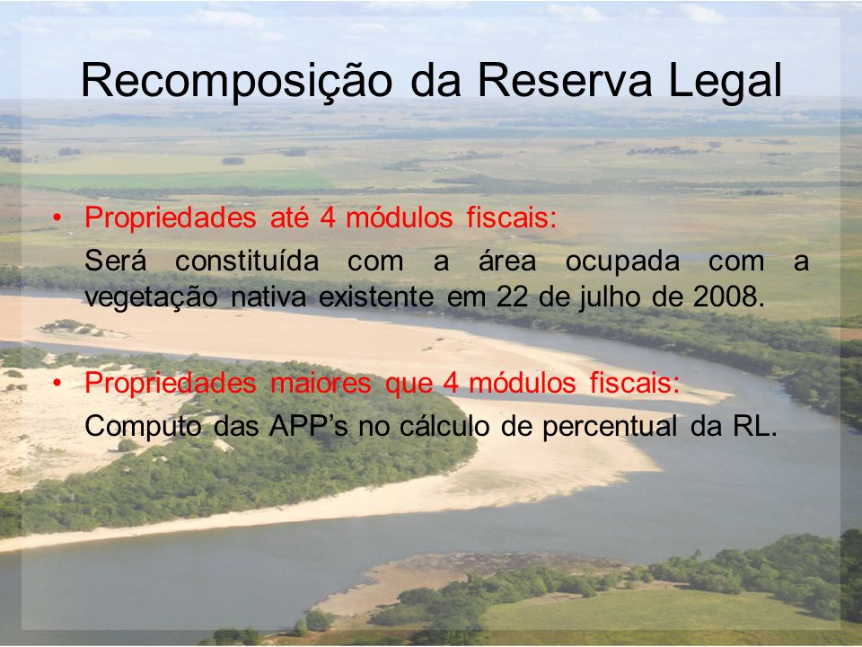 Recomposição da Reserva Legal