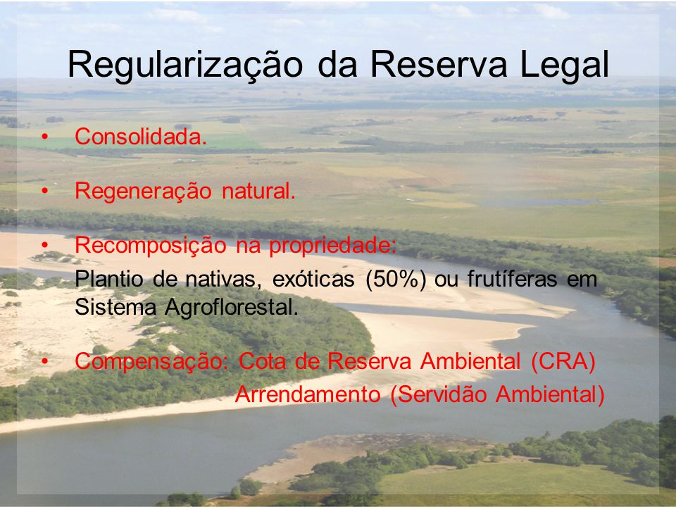 Regularização da Reserva Legal