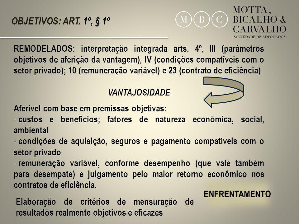 OBJETIVOS: ART. 1º, § 1º