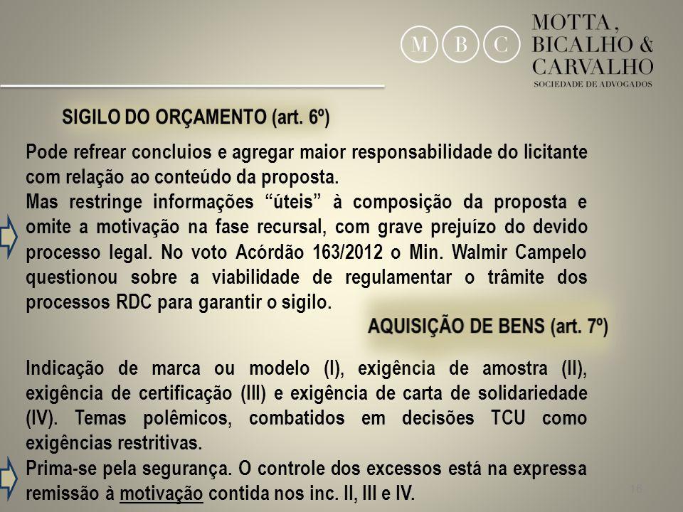 AQUISIÇÃO DE BENS (art. 7º)