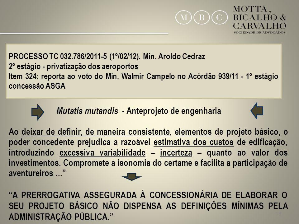 Mutatis mutandis - Anteprojeto de engenharia