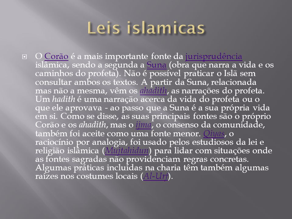 Leis islamicas