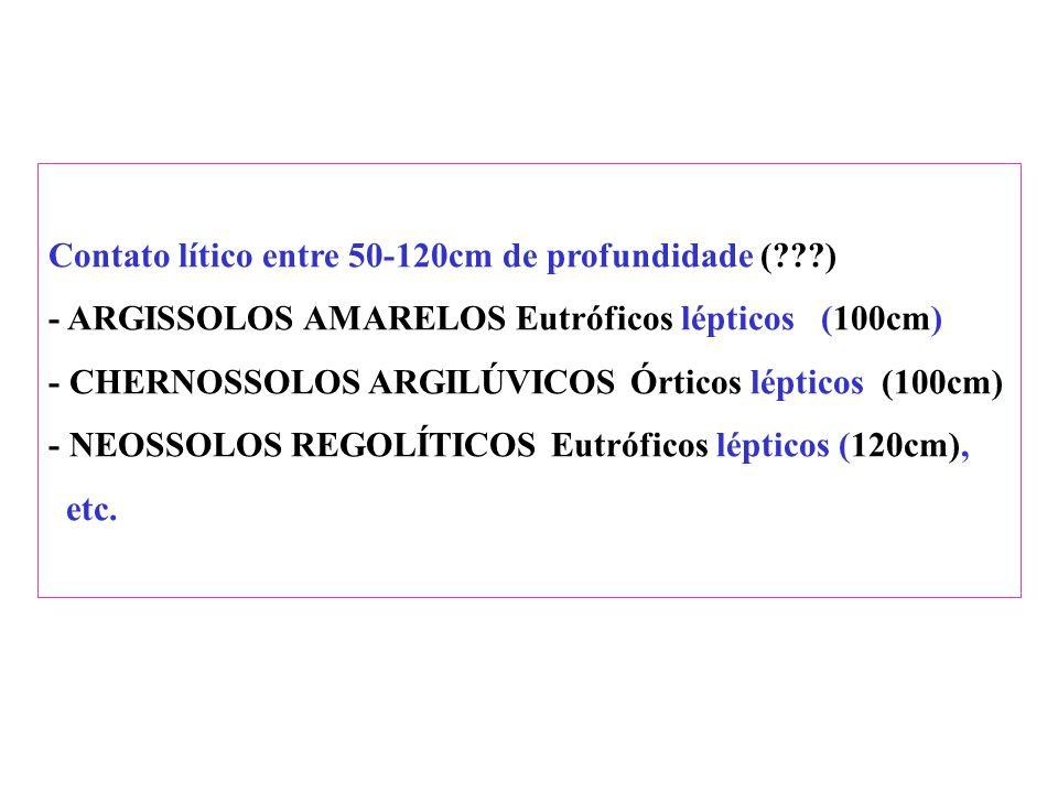 Contato lítico entre 50-120cm de profundidade ( )
