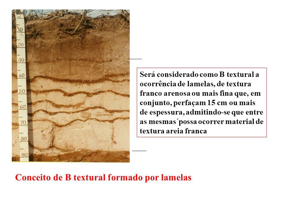 Conceito de B textural formado por lamelas