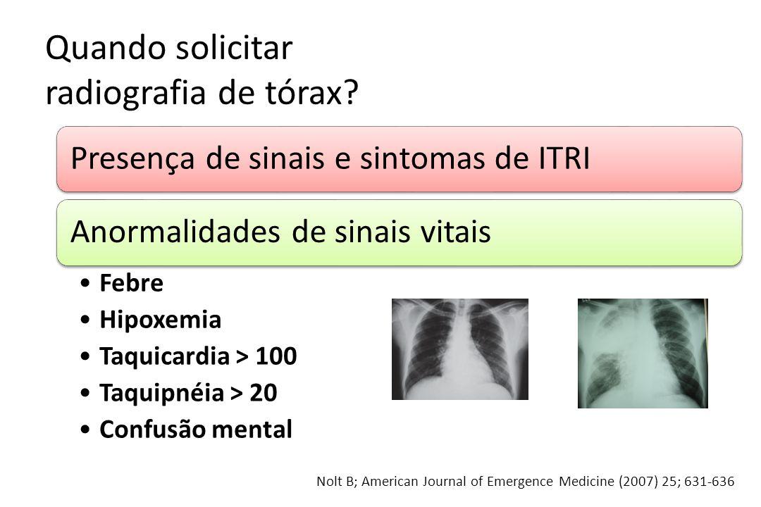 Quando solicitar radiografia de tórax