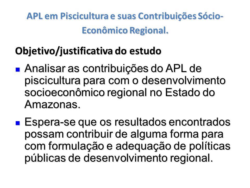 APL em Piscicultura e suas Contribuições Sócio-Econômico Regional.