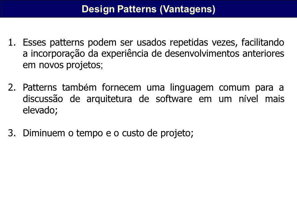 Design Patterns (Vantagens)
