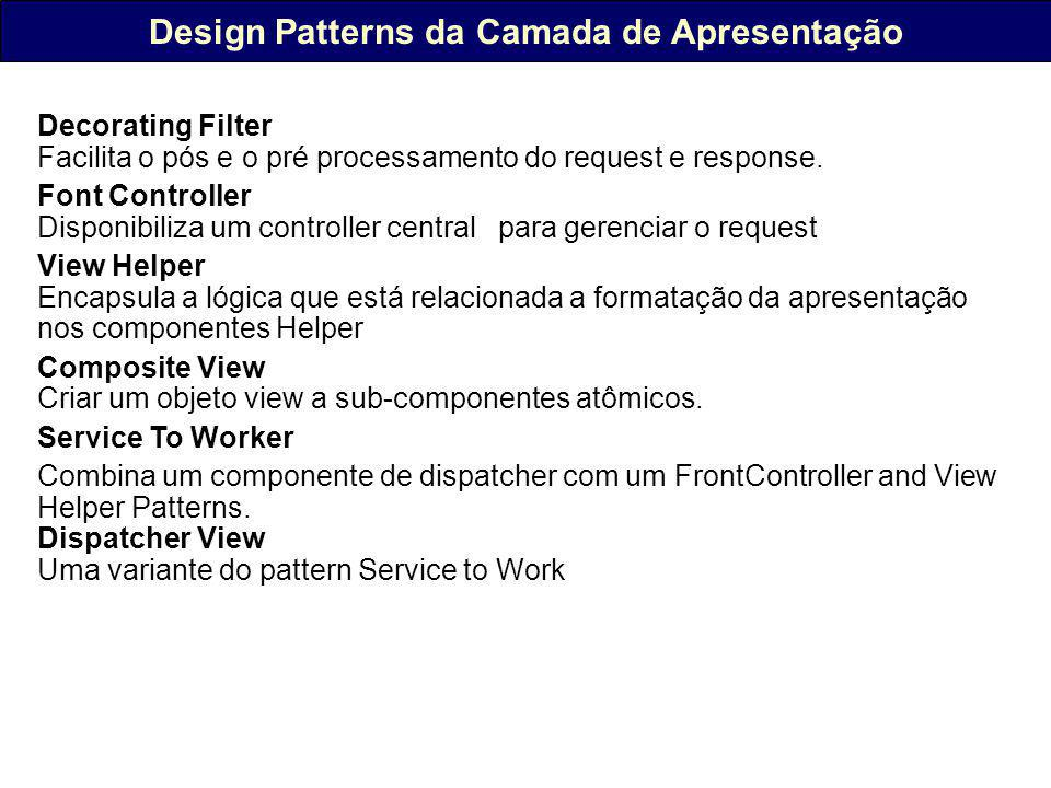 Design Patterns da Camada de Apresentação