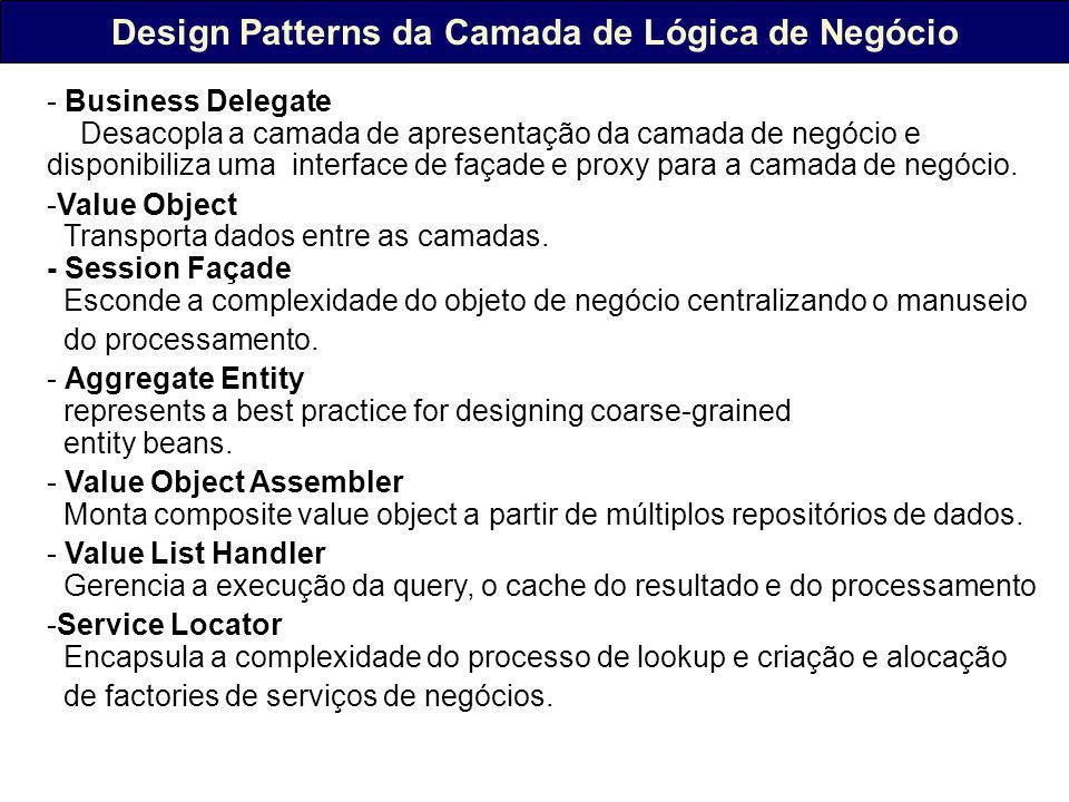Design Patterns da Camada de Lógica de Negócio