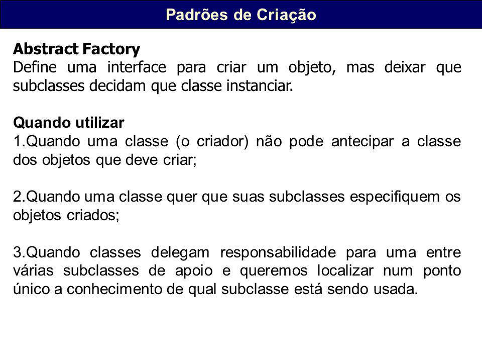 Padrões de Criação Abstract Factory