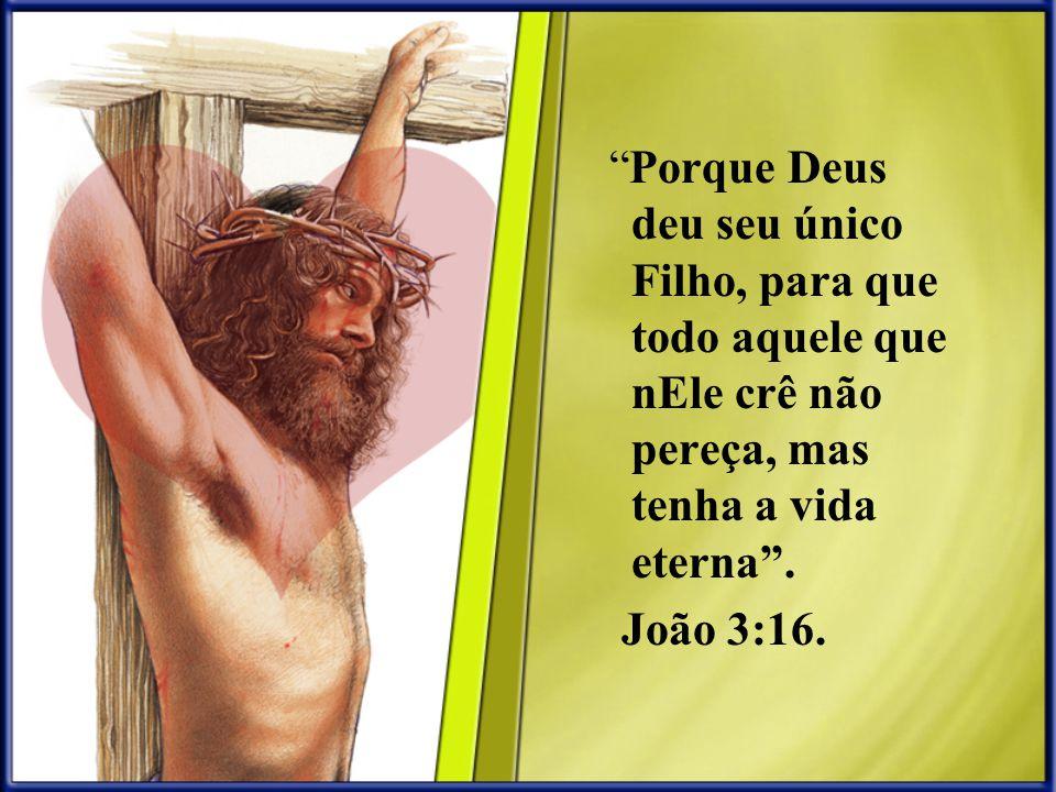 Porque Deus deu seu único Filho, para que todo aquele que nEle crê não pereça, mas tenha a vida eterna .