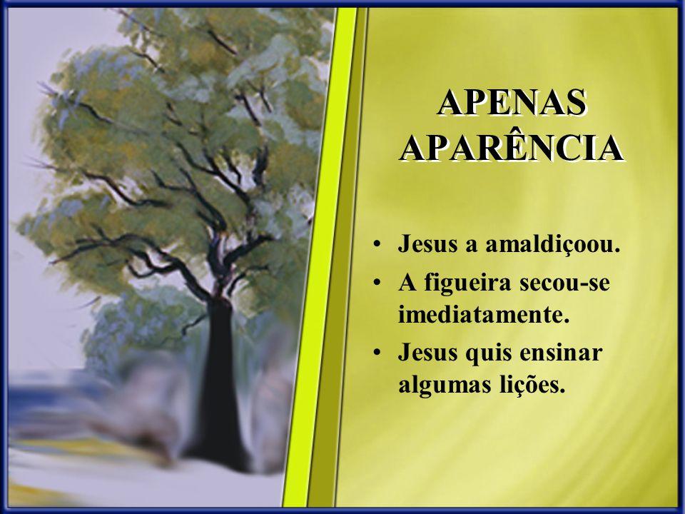 APENAS APARÊNCIA Jesus a amaldiçoou.