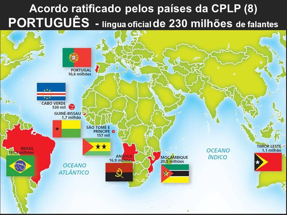 PORTUGUÊS - língua oficial de 230 milhões de falantes