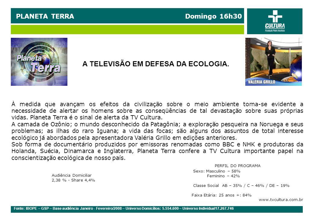 A TELEVISÃO EM DEFESA DA ECOLOGIA.