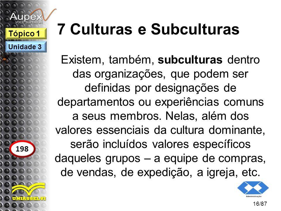 7 Culturas e Subculturas