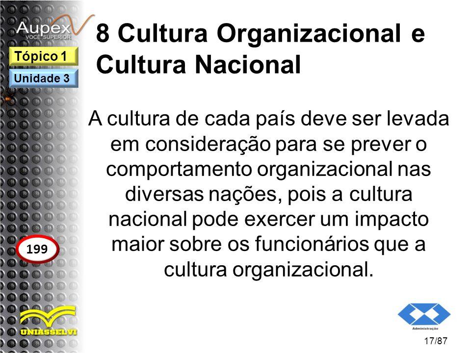8 Cultura Organizacional e Cultura Nacional