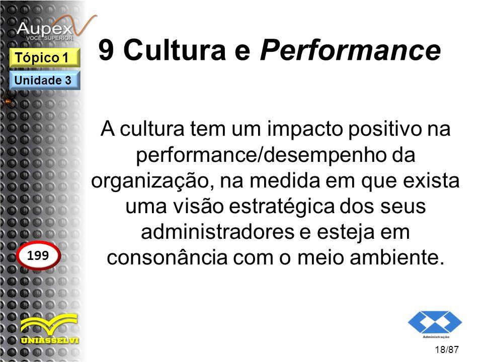 9 Cultura e Performance Tópico 1. Unidade 3.