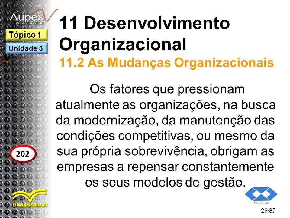 11 Desenvolvimento Organizacional 11.2 As Mudanças Organizacionais