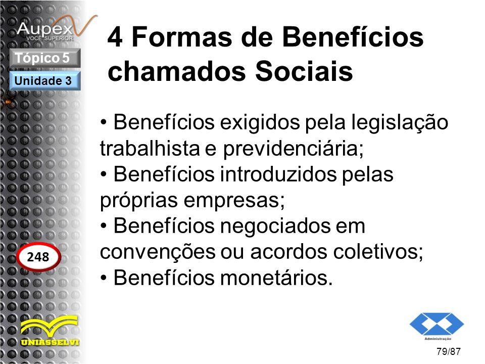 4 Formas de Benefícios chamados Sociais