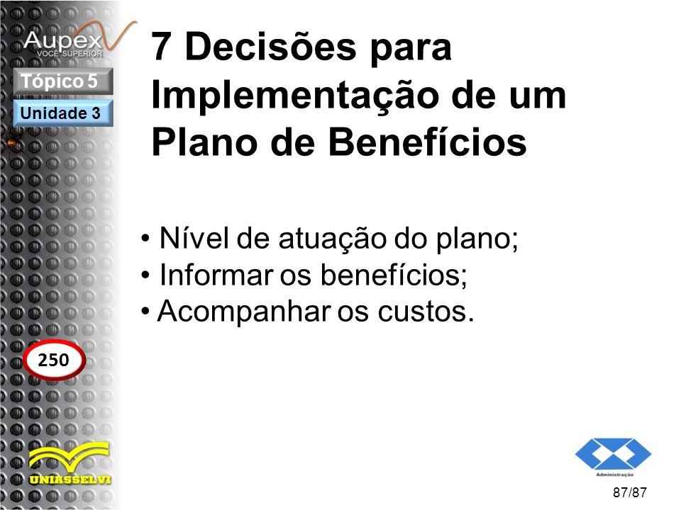 7 Decisões para Implementação de um Plano de Benefícios