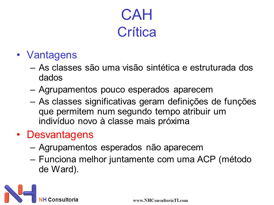 CAH Crítica Vantagens Desvantagens