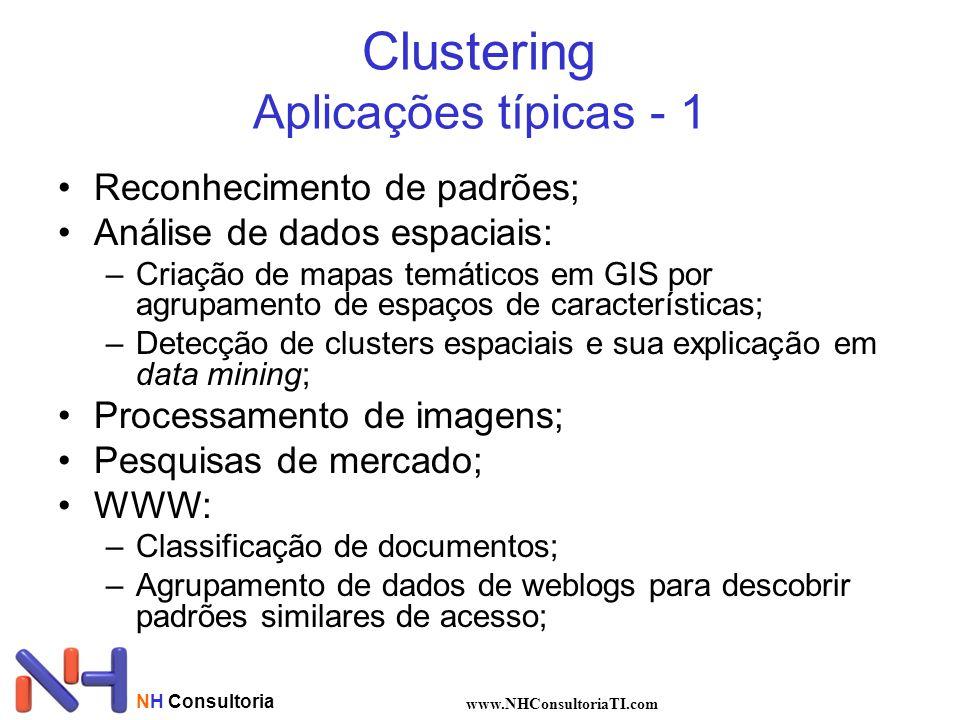 Clustering Aplicações típicas - 1
