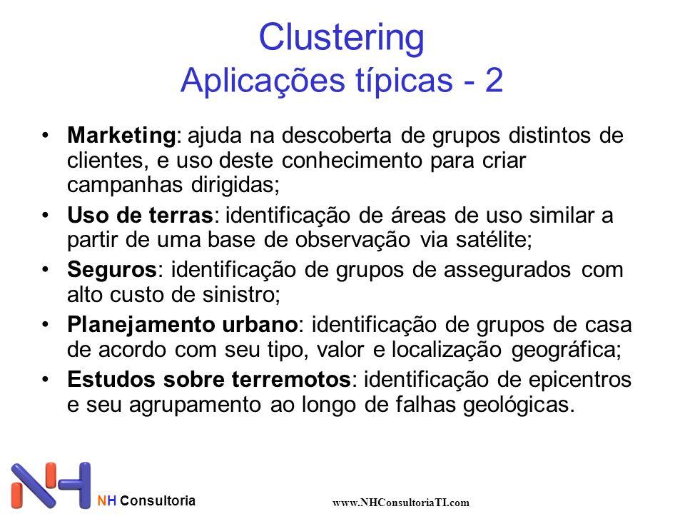 Clustering Aplicações típicas - 2