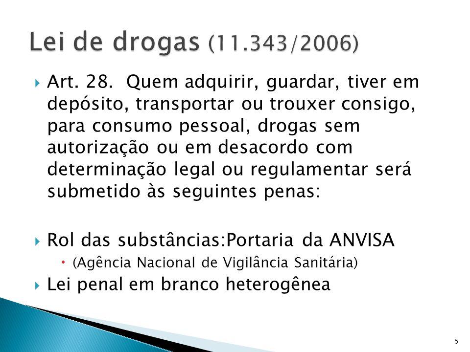 Lei de drogas (11.343/2006)